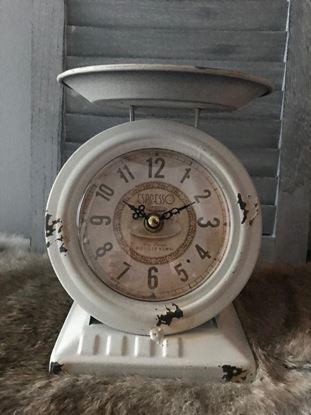 Vintage klok weegschaal