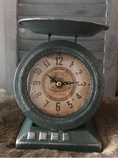 Vintage klok Oud blauw