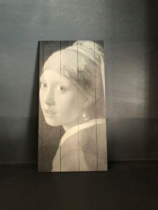 Decoratie paneel meisje met de parel